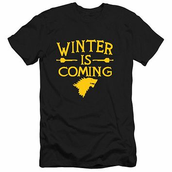 T-Shirt Men House Stark Winter Is Coming printed summer style tees Male top clothing