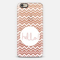 Hello Chevron Clay iPhone 6 case by Emilee Parry | Casetify