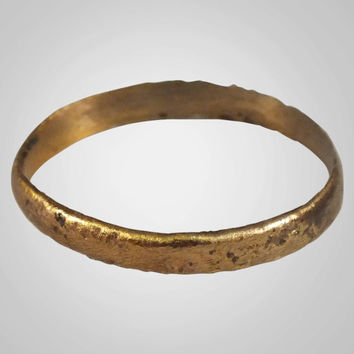Authentic Ancient Viking Wedding Band Jewelry C.866-1067A.D. Size 10  (19.9mm)(Brr562)