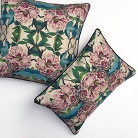 PATCH NYC - PILLOWS - PEONY FLORA PILLOW {FL101}