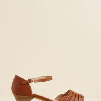 Mid-Height Delights Peep Toe Heel in Brown