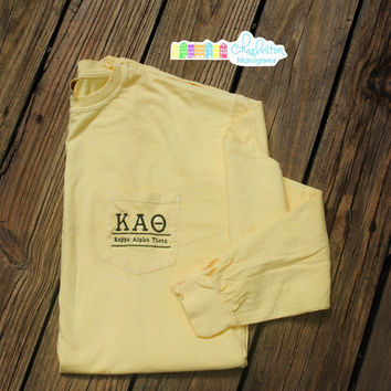 Kappa Alpha Theta Long Sleeve Sorority T-Shirt