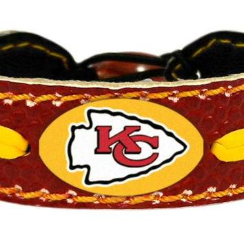 Kansas City Chiefs Team Color Football Bracelet