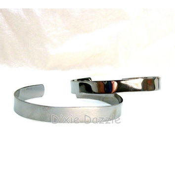 Bracelet components, 6 gunmetal silver cuff bracelets,bracelet base, bracelet blanks, stamping blank, bracelet for wire wrapping