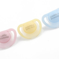 Personalised Adult baby pacifier. ABDL soother adult dummy for DDLG