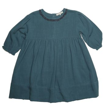 Blu Pony Vintage Girls' Emmie Tanzanite Blue Dress