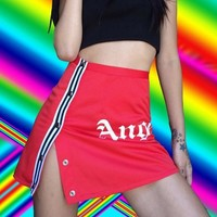 Angle sexy fashion mm buckle Package buttocks short skirt dress red