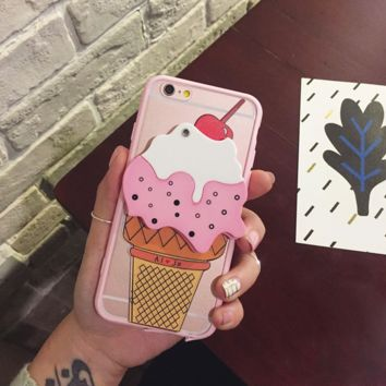 Lovely ice cream mirror mobile phone case for iPhone 6 6s + Nice gift box!