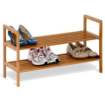 Two Tier Bamboo Shoe Shelf