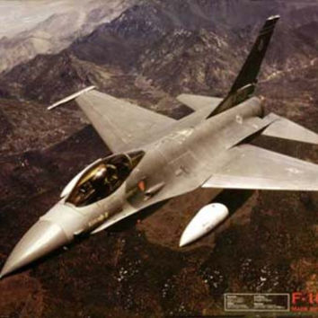 F-16 Falcon Military Fighter Aircraft Poster 24x36