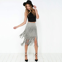 High Waist Knee-length Skirt
