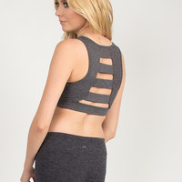 Back Ladder Sports Bra - Gray