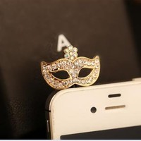 Rhinestone Mask Plugy for iPhone