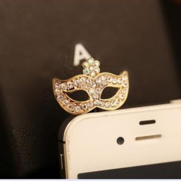 Rhinestone Mask Plugy for iPhone YFQ548