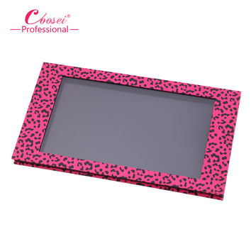 Empty Magnetic Eyeshadow Palette Big Pink Leopard Contour Makeup Professional DIY Makeup Storage Box Fill 18*36mm pans