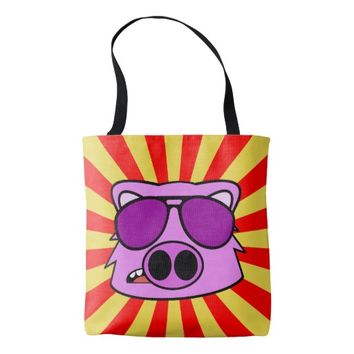 Super Duper Fly Pig Tote Bag