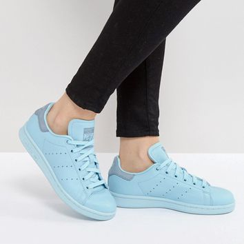 adidas Originals Icy Blue Stan Smith Sneakers at asos.com
