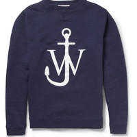 J.W.Anderson - Printed Fleece-Backed Cotton-Jersey Sweatshirt | MR PORTER