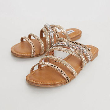 Not Rated Be Me Gold Sandals