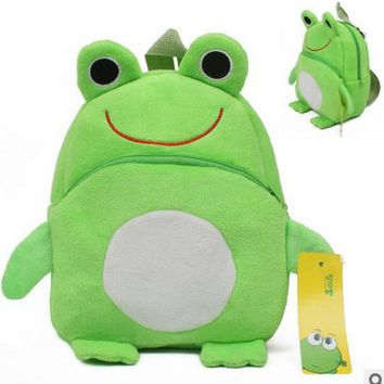 23CM Frog Rabbit Plush Cartoon Kid Backpack For Child School Bag For Kindergarten Girl Baby Boy Backpack Mochila