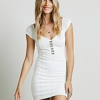 Free People Womens Eyelet Bodycon Dress