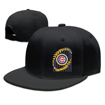 Chicago Cubs 2016 World Series Champions Two-Tone Trophy Breathable Unisex Adult Womens Hip-hop Hat Mens Fitted Hats