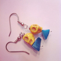 Yellow and Blue Earrings