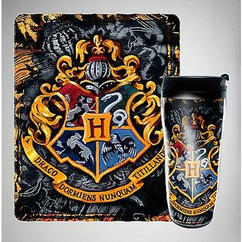 Harry Potter Fleece Blanket and Travel Mug Set - Spencer's
