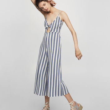 Striped jumpsuit with knot detail - New - Woman - PULL&BEAR United Kingdom