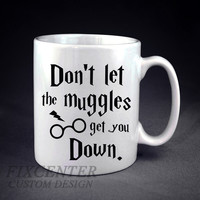 Don't Let The Muggles Get You Down Harry Potter Personalized mug/cup