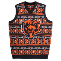 Chicago Bears Aztec Print Ugly Sweater Mens Sizes S-XXL w/ Priority Shipping
