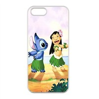 Lilo Stitch Case for iPhone 5,5S 100% TPU (Laser Technology)