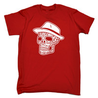 123t USA Men's Fedora Skull Funny T-Shirt