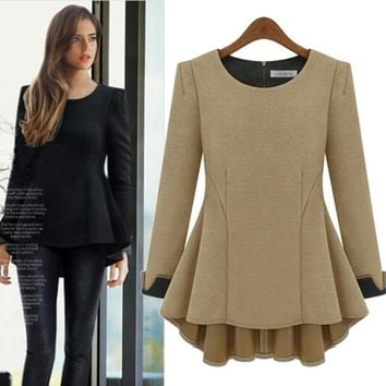 2017 autumn new long sleeves loose large size women [22424911898]