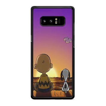 Snoopy And Charlie Brown Sunset Samsung Galaxy Note 8 Case