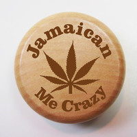 "Wood Herb Grinder: ""Jamaican Me Crazy"""