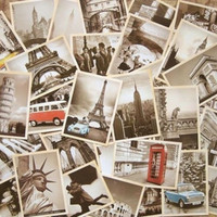 32Pcs Vintage Retro Old Travel World Cities Postcards Travel Gift Greeting Cards = 5987844993