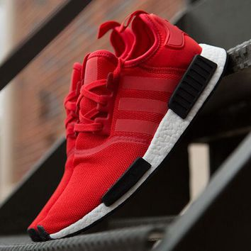 Best Online Sale Adidas NMD R1 Runner Nomad Clear Red Black White Bred Pack BB1970 Boost Sport Running Shoes Classic Casual Shoes Sneakers