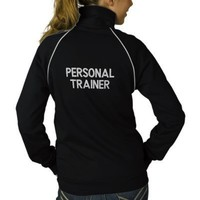 Cute Personal Trainer Fitness Track Jacket from Zazzle.com