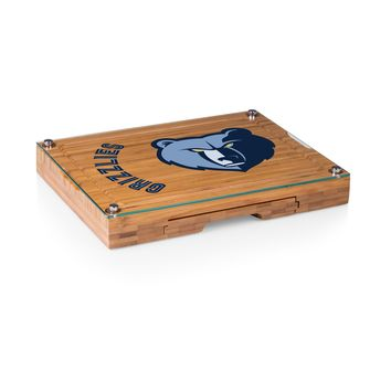 Memphis Grizzlies - 'Concerto' Glass Top Cheese Board & Tools Set by Picnic Time
