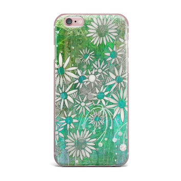 "Marianna Tankelevich ""Spring Daisies"" Green White iPhone Case"