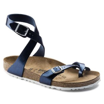Sale Birkenstock Yara Birko Flor Patent Graceful Sea 1005569/1005570 Sandals