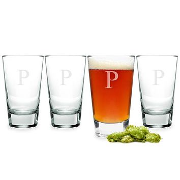 Personalized Pint Glasses (Set of 4)