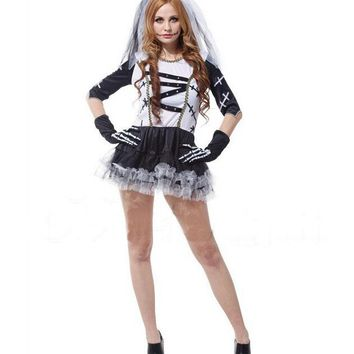 The Carnival Party Death Bridal Costume