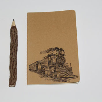 Old World Train Travel Journal Diary