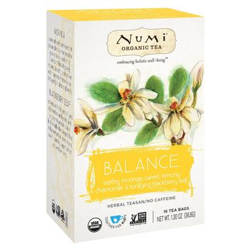 Numi Tea Organic Herb Tea - Balance - Case Of 6 - 16 Count