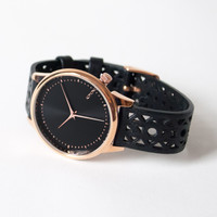 Komono Estelle Cutout Watch Black Rose