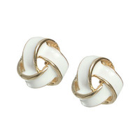 Epoxy Knot Button Earring | Shop Accessories at Wet Seal
