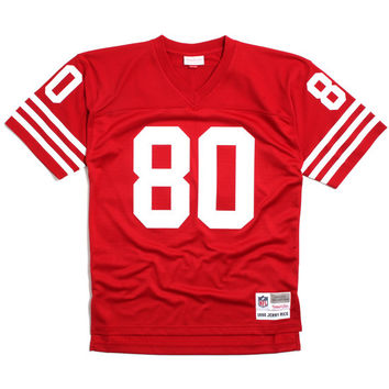 Jerry Rice 1990 San Francisco 49ers Football Jersey Red