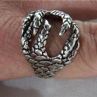 1 DELUXE EAGLE CLAWS SILVER BIKER RING BR#49 mens  jewelry rings BIRD EAGLES NEW